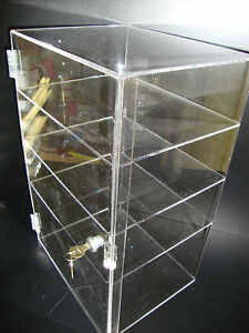 Acrylic Countertop Display Case 12 X 8 X 19 Locking Security Show Case Safe B