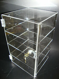 Acrylic Countertop Display Case 9 1 2 X 9 1 2 X 16 Locking Security Show Case