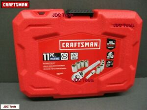 Craftsman Tool Case Empty For 1 4 Drive Mm Socket And Ratchet Wrench