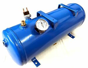 1 5 Gallon 6l Air Tank with 120 Psi Gauge Air Switch For Train Horn And More