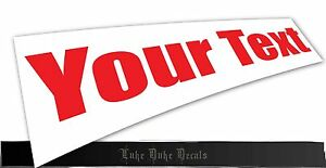 Your Text Personalized Custom Decal Hq Imp Style Bumper Die Cut Vinyl Sticker