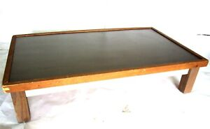 54 X 32 X 12 T Wood Frame Metal Top Display Table Stand Industrial Furniture
