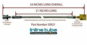 Stainless Steel Braided Rear Brake Hose 3 16 Tube With Tee 3an 3an 24 Long