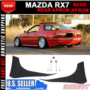 For 86 91 Mazda Rx7 Fc3s Unpainted Rear Bumper Spats Aprons Splash Guards Pair