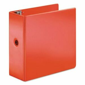 Cardinal Superstrength Locking Slant d Ring Binder 5 Red crd11952