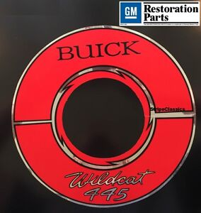 1964 1965 1966 Buick Wildcat 445 Engine Air Cleaner Decal Sticker 10 Inch 64 65