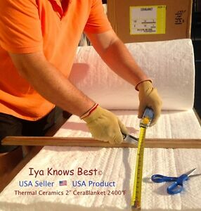 2 Ceramic Fiber Insulation Blanket 2400f Cerablanket 8 Thermal Ceramic 30 x24
