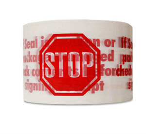 24 Rolls Stop Sign Red Packing Packaging Tape 3 x330