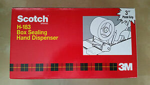 3m Scotch H 183 3 Box Sealing Hand Tape Gun Dispenser brand New
