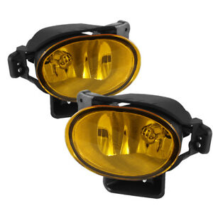 2007 2008 Acura Tl Base Type s Fog Lights Bumper Lamps Yellow Pair Set W bulbs