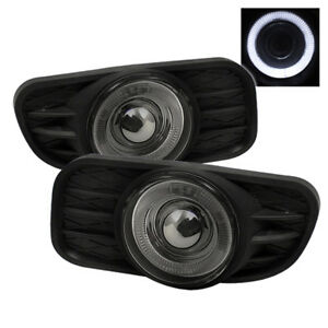 Fit 99 04 Jeep Grand Cherokee Halo Projector Fog Lights Smoke W switch wiring
