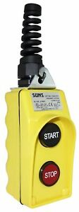 Suns Csb 275y hga Ul Listed Yellow Start stop Pendant Station 1no 1nc 9001bw95y
