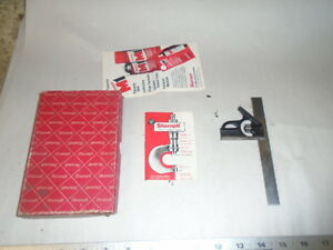 Machinist Tool Lathe Mill Machinist Starrett Combination Ruler In Box 33 J