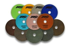 Zered 5 Diamond Concrete Resin Polishing Pads 1 Set