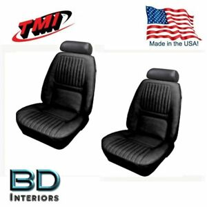 1970 Chevy Camaro Coupe Black Front Rear Seat Upholstery In Stock Now