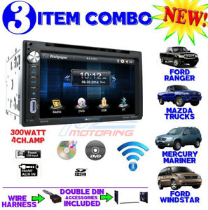1995 2007 Ford Mercury Bluetooth Cd Usb Aux Radio Stereo Installation Double Din