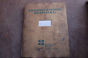 Bucyrus Erie 30 Transit Crane Owner Instruction Operation Manual Shop Operator