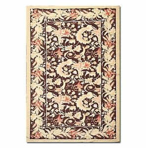 5 9 X 10 5 Handmade French Needlepoint Aubusson 100 Wool Area Rug