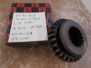 Nors 1939 47 Ford Truck 3 Speed Low Reverse Slider Wt191 12j All Straight Cut