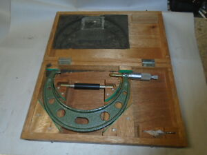 Machinist Tools Lathe Mill Metric Mitutoyo Micrometer Gage Gauge In Case