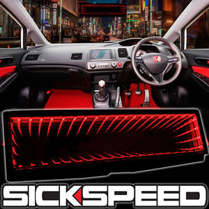 Sickspeed Galaxy Mirror Led Light Clip On Rear View Wink Rearview Red P4
