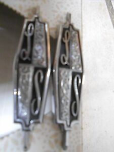 2 Oldsmobile Cutlass Ls Metal Emblems P n 8779919 Oem Rare