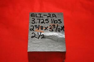 Medical Eli Titanium 6al 4v 2 5 8 X 3 7 8 X 2 1 2 3 7 Lb Bar Plate Sheet