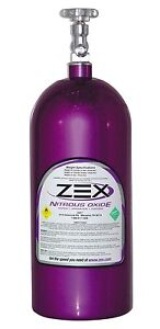 Zex 82000 Purple Nitrous Oxide Bottle W Valve 10lb Capacity Nos