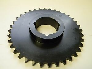 Browning 60tb36 Roller Chain Sprocket Bushed Steel 60 Pitch 36 Teeth Qty 1
