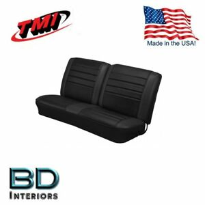 1965 Chevy El Camino Front Bench Seat Upholstery Black Made In Usa By Tmi