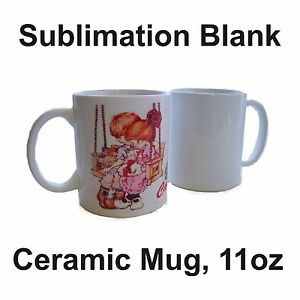 36 White Ceramic Mug Sublimation Blank 11oz Coated Premium Transfer