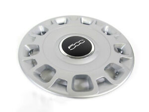 2012 2017 Fiat 500 15 Steel Wheel Silver Hub Cap Cover New Oem Mopar Genuine