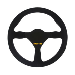 Momo Racing Steering Wheel Mod 26 Black Suede Leather Black Spokes 280mm