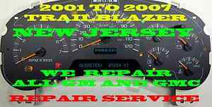 15115883 15115881 Chevy Gmc Trailblazer Instrument Cluster Speedometer Repair