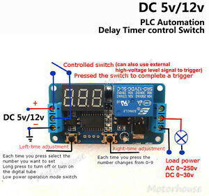Digital Led Adjustable Delay Countdown Time Timer Switch Relay Module Trigger