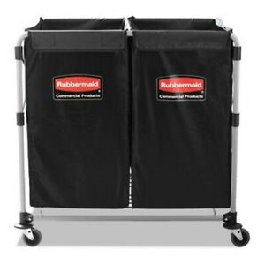 Rubbermaid 1881781 Collapsible 2 4 Bushel Steel X cart Black rcp1881781