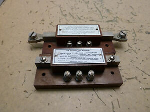 Lot Of 2x Weston Heating Element For Thermo Ammeter 640 30a 50a 2 c 40