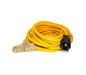 10 3 25ft Generator Power Extension Cord Male L5 20p Plug 5 15r Female 3 Outlet