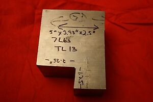 One Titanium 6al 4v 5 X 3 93 X 2 5 7 Lbs Bar Plate Sheet Showing Grain