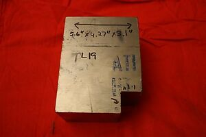 One Titanium 6al 4v 5 6 X 4 27 X 3 1 11 4 Lbs Bar Plate Sheet Showing Grain