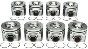 New Ford 6 4 6 4l Powerstroke Diesel Mahle Pistons Set 8 2008 10 50mm 020