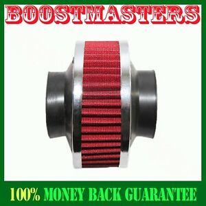 Universal 3 Performance Cold Air Intake Bypass Filter Valve Pipe Rubber Red