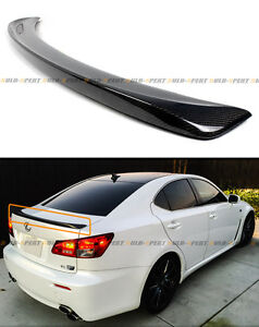 For 2006 2013 Lexus Is 250 350 Isf F Style Real Carbon Fiber Rear Trunk Spoiler