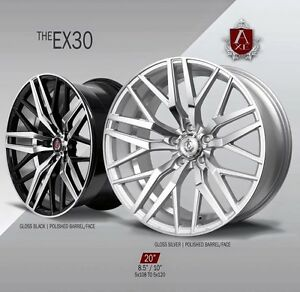 Axe Ex30 Wheels Rims 20 Staggered Setup Mustang G35 350z Accord Genesis