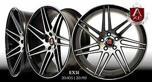 Axe Ex31 Wheels Rims 20 Staggered Setup Mustang G35 350z Accord Genesis