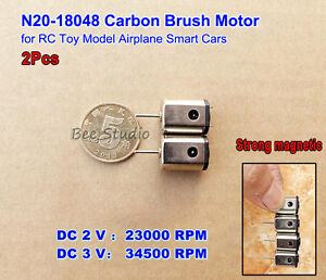 2pcs N20 Dc 3v 34500rpm High Speed Mini Micro Dc Motor Aircraft Helicopter Toy