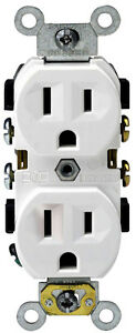 Leviton Outlet 15a Wh 10pk M24 0br15 wmp Electrical straight Blade Receptacles