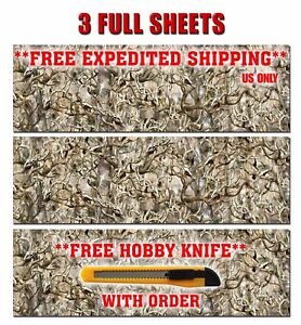 3 Camo Decals Made From 3m Wrap Vinyl Truck Camo Tree Print Skull Camouflage