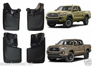 Genuine Toyota Oem Black Mud Flaps For 2016 2018 Toyota Tacoma New Free Shipping