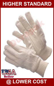 36 Pairs Cotton Canvas Work Gloves Men Size Indoor Outdoor Field Hand Protection